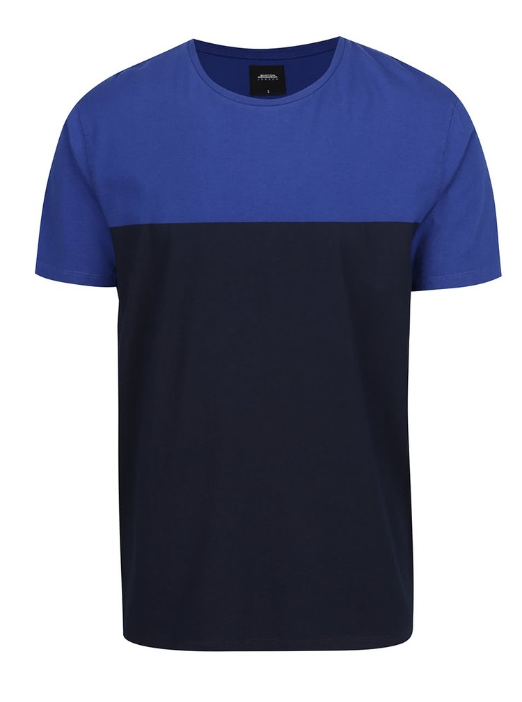 Tricou albastru Burton Menswear London din bumbac