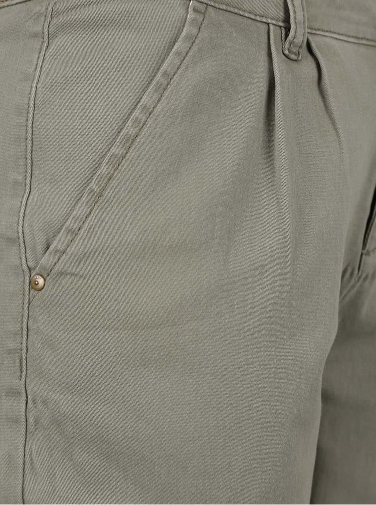 Zelené chino kalhoty Jacqueline de Yong Marika