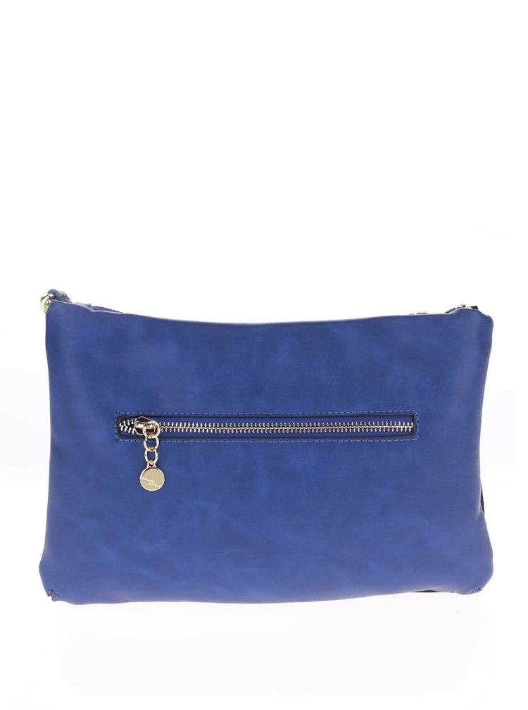 Modrá crossbody kabelka se semišovou přední částí Liberty by Gionni Josie