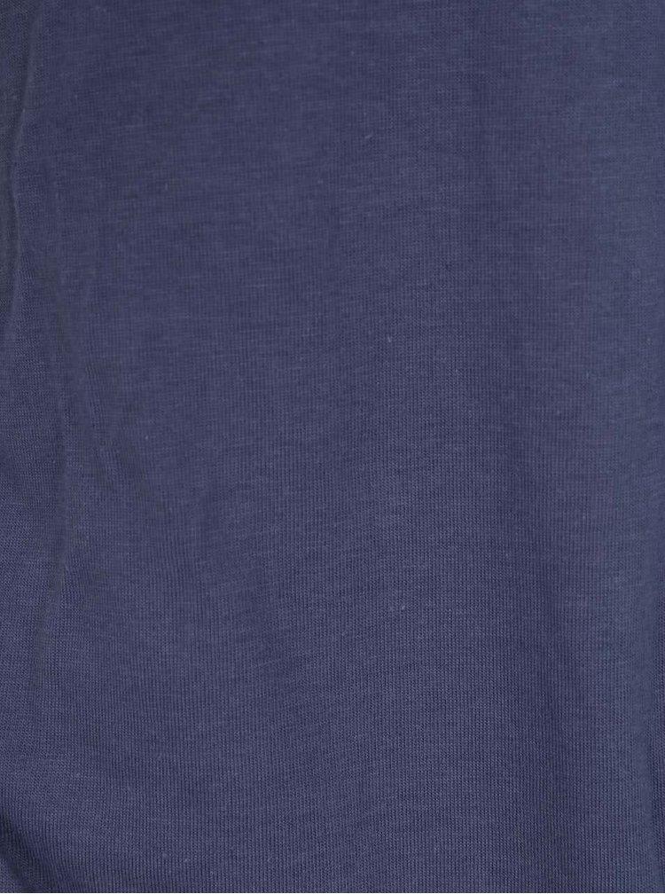 Tmavě modrá holčičí květovaná bunda name it Mello
