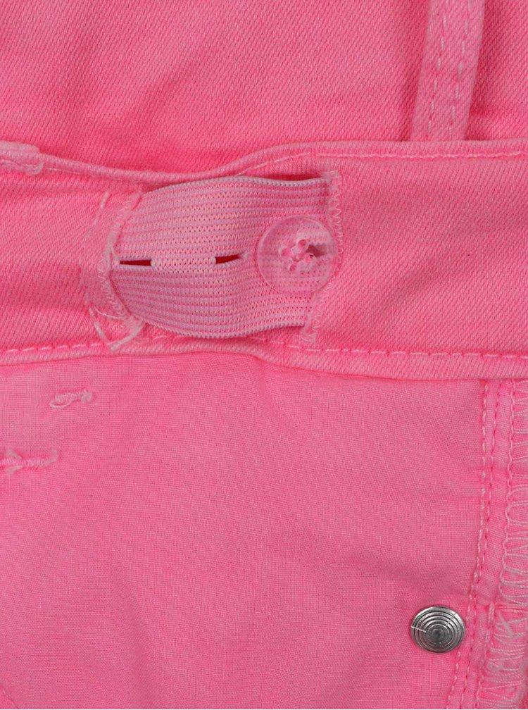 Neonově růžové holčičí skinny džíny name it Babea