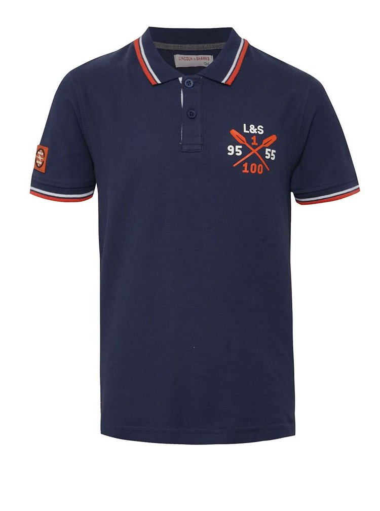 Tricou polo bleumarin 5.10.15. pentru băieți