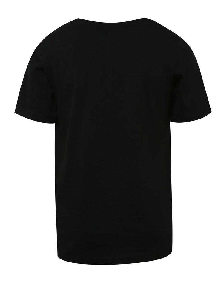 Černé klučičí triko s potiskem a krátkým rukávem 5.10.15.