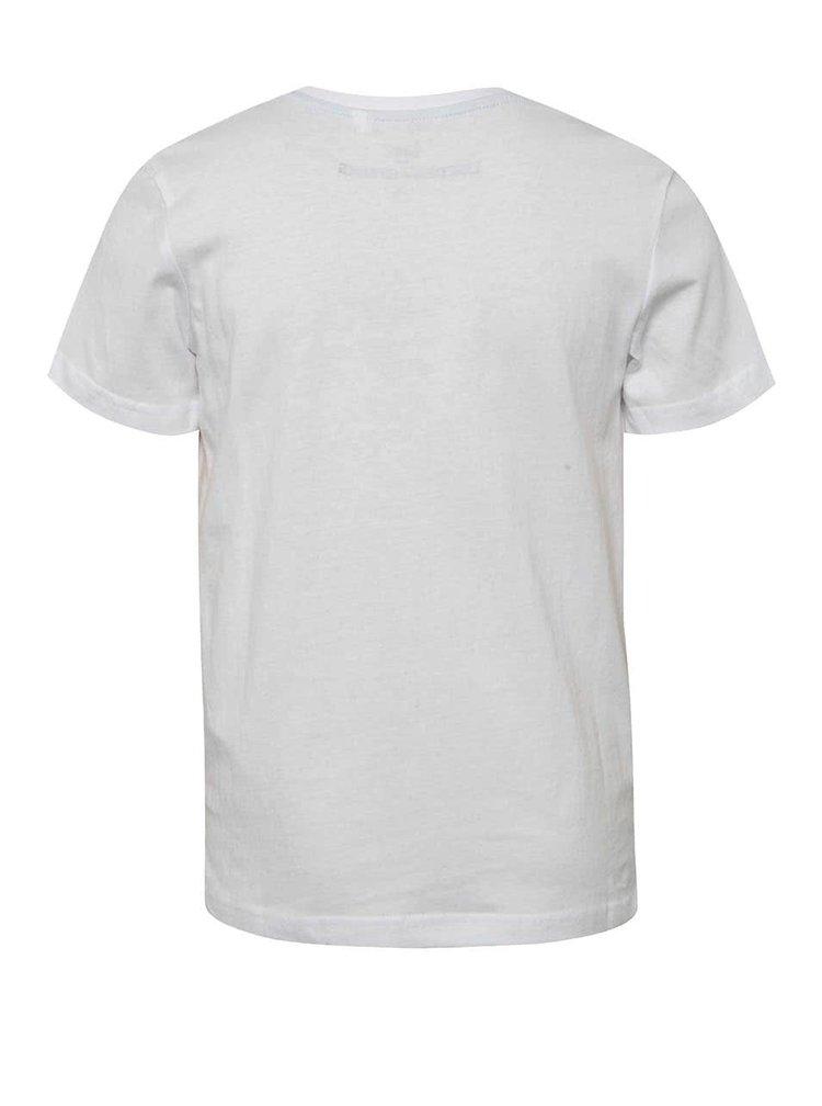 Tricou alb cu print  5.10.15. pentru băieți