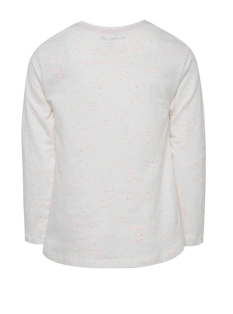 Bílé holčičí tričko s motivem duhy 5.10.15.