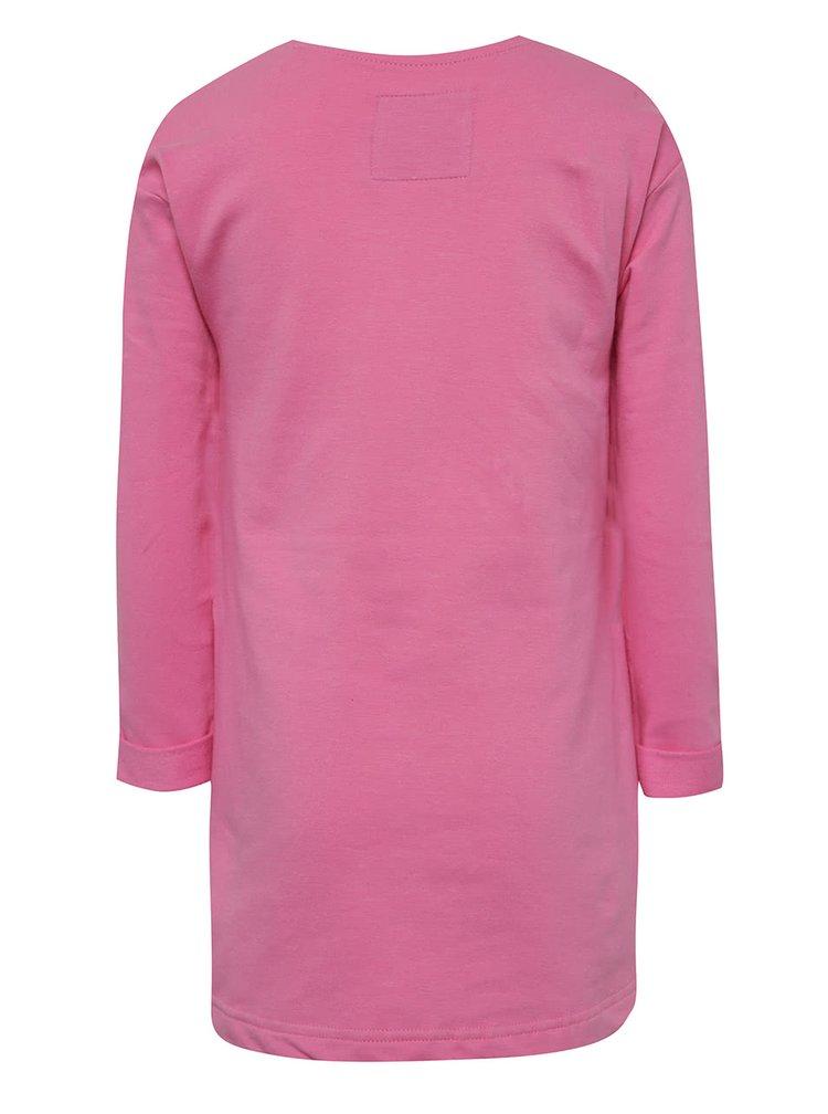 Rochie roz 5.10.15. cu aplicație din paiete multicolore