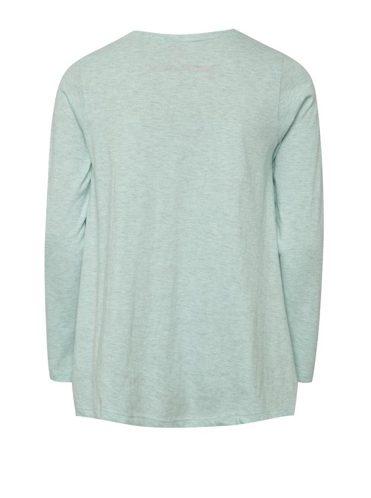 Světle zelené holčičí tričko s potiskem 5.10.15.