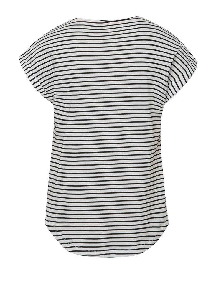 Černo-bílé holčičí pruhované tričko 5.10.15.
