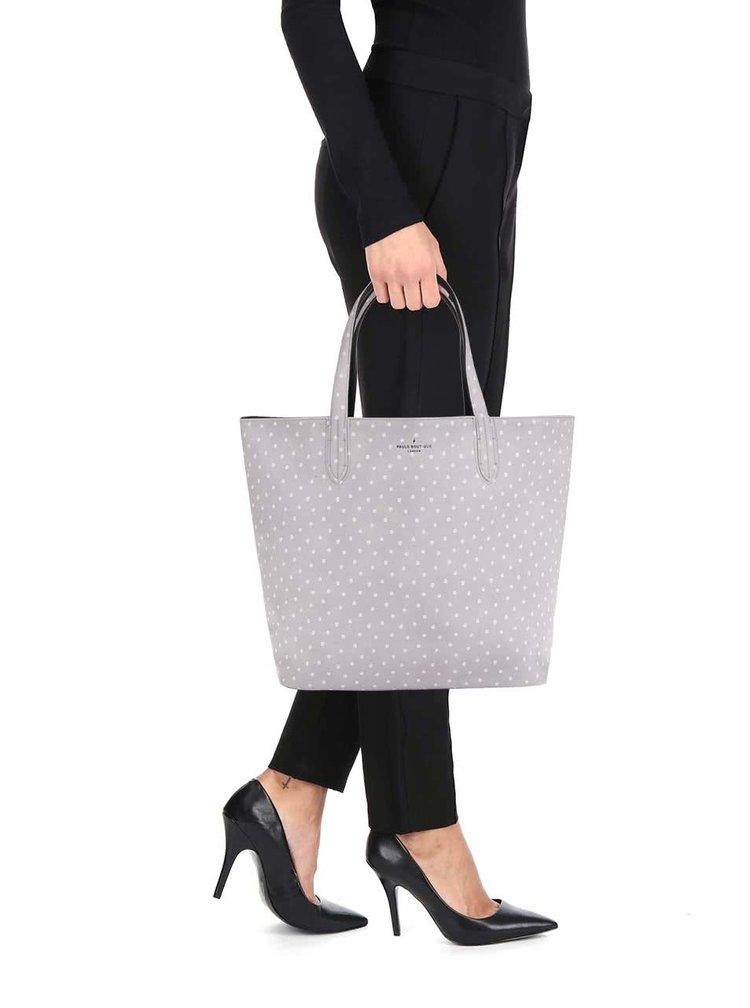 Černo-šedý puntíkovaný oboustranný shopper Paul's Boutique Chloe