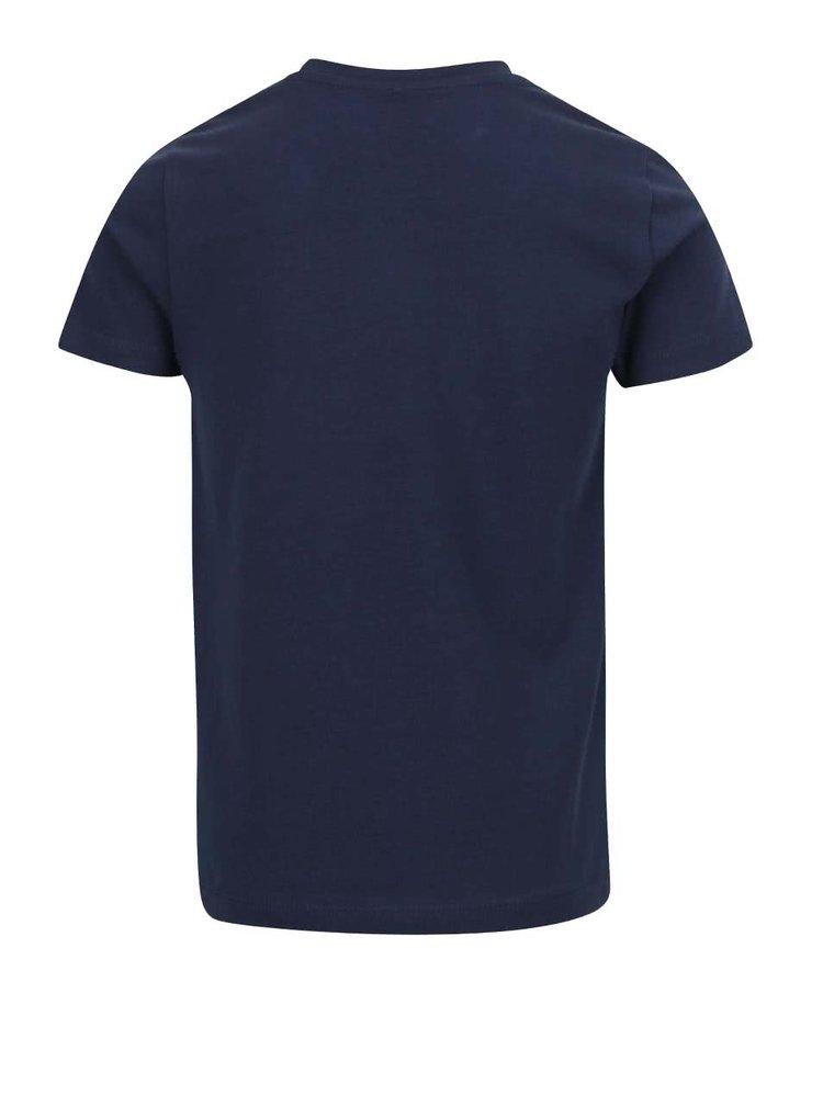 Tmavě modré klučičí triko s potiskem name it Fabio
