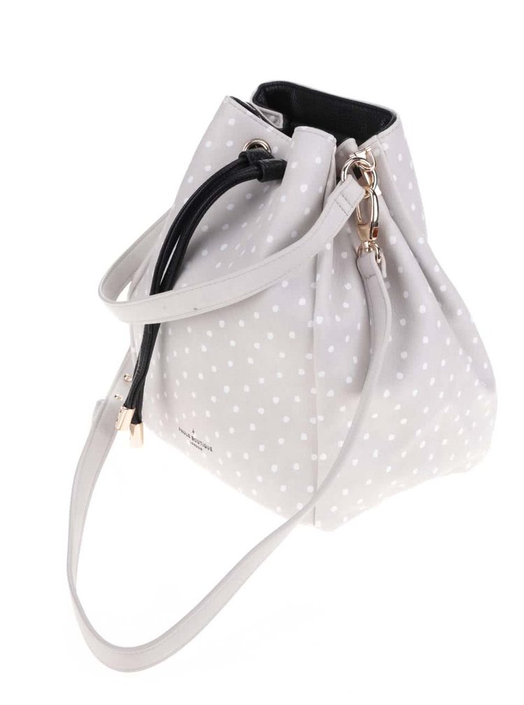 Geanta crossbody gri Paul's Boutique Hatiie cu buline