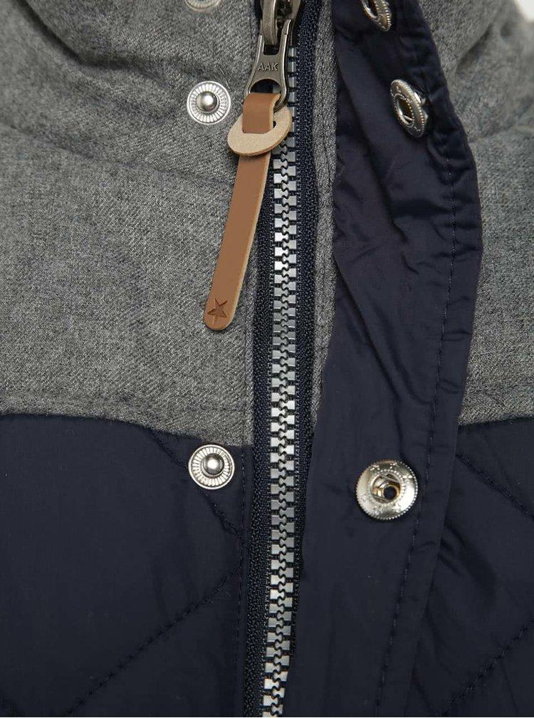 Šedo-modrá klučičí prošívaná bunda na zip  5.10.15.