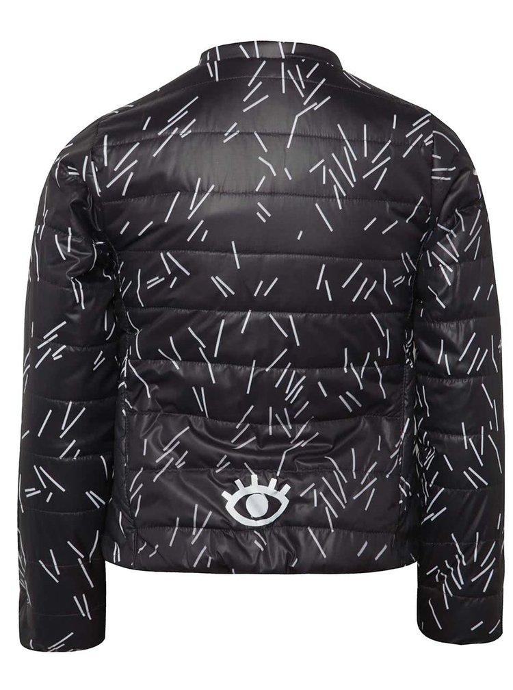 Černá holčičí bunda s bílým vzorem 5.10.15.