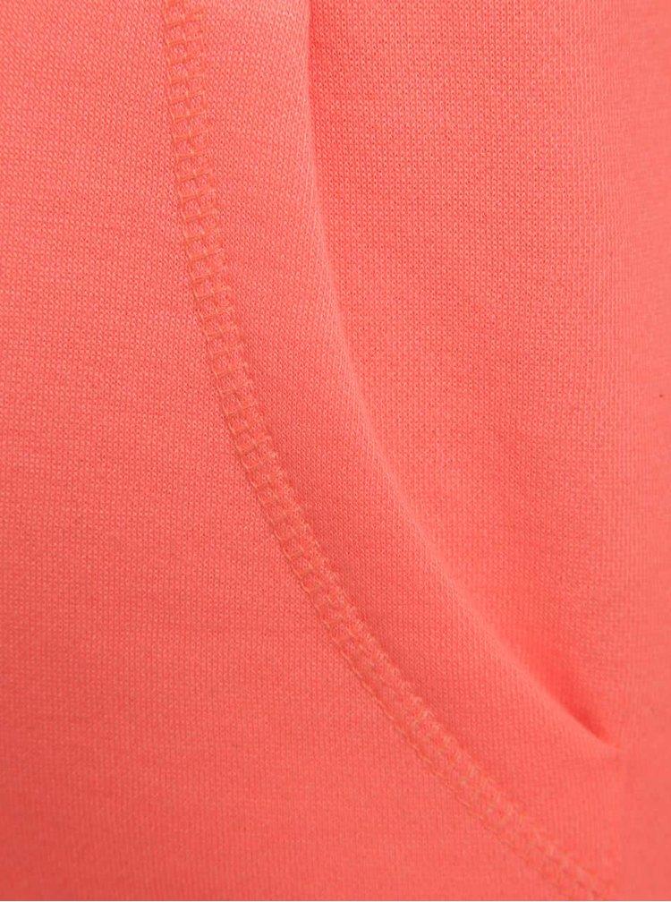 Oranžová holčičí mikina s kapucí a výšivkou  5.10.15.