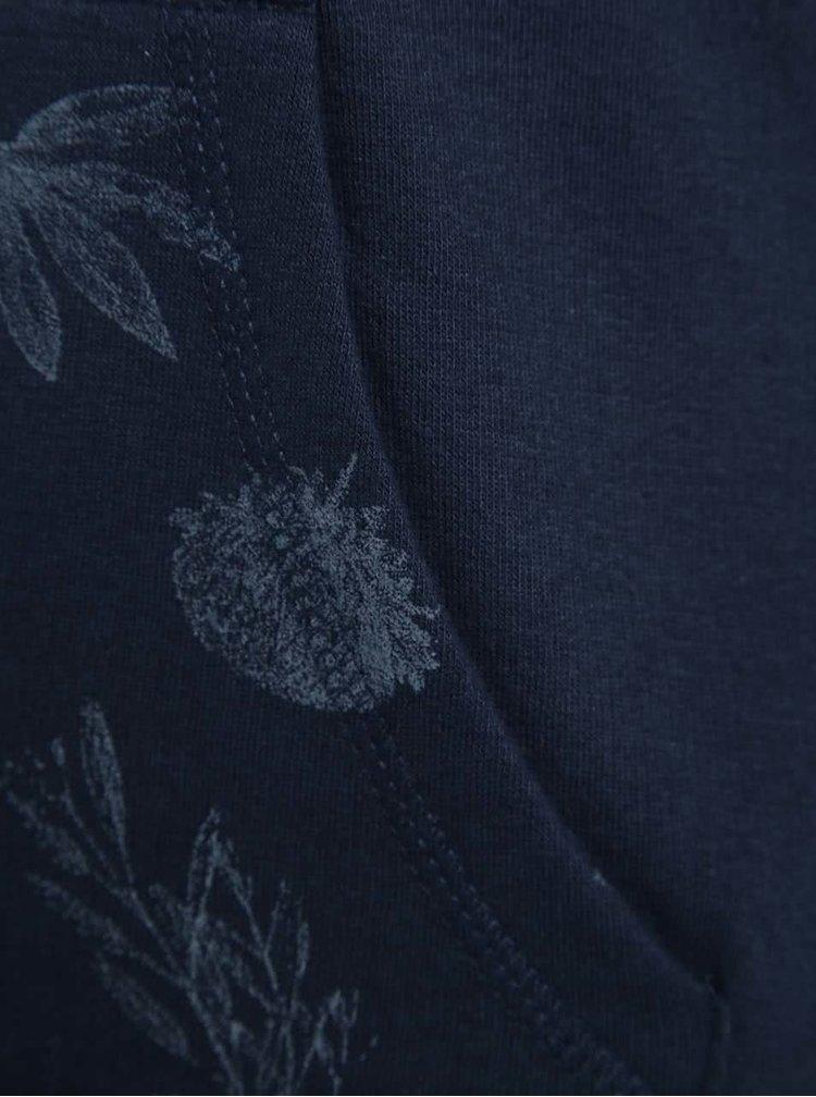 Hanorac bleumarin 5.10.15. cu print și model pentru fete