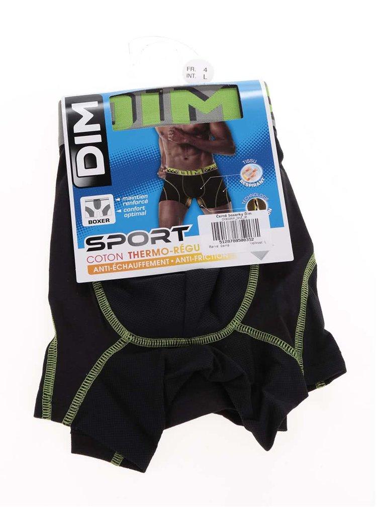 Zeleno-černé boxerky DIM