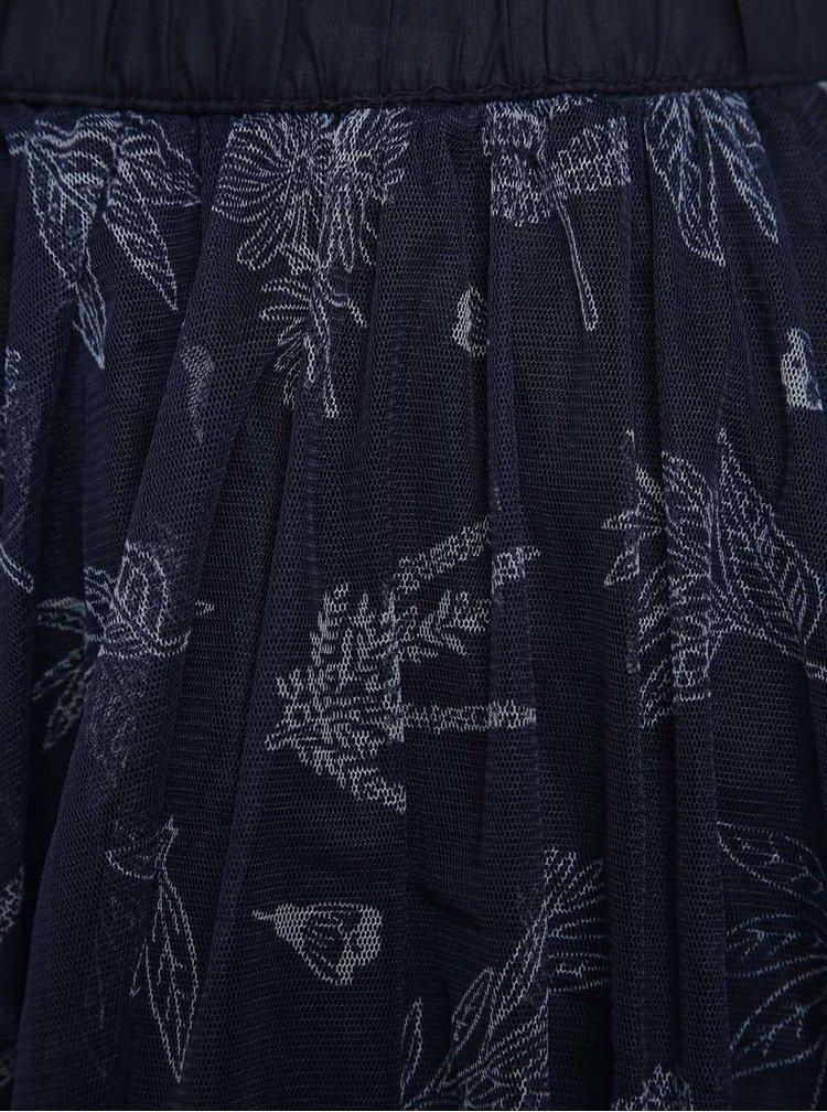 Tmavě modrá holčičí sukně s potiskem 5.10.15.