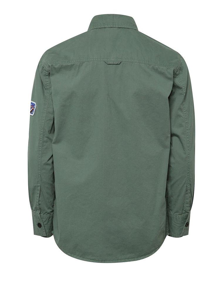 Zelená klučičí košile s nášivkami 5.10.15.