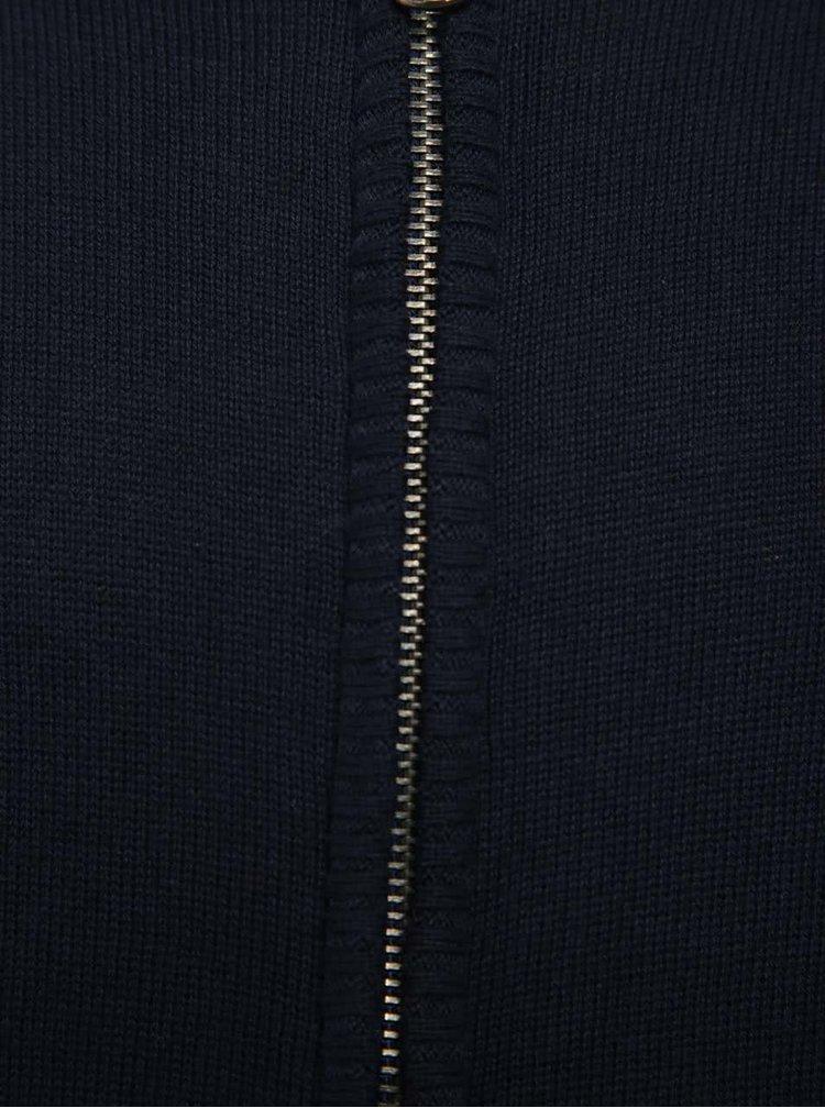 Tmavě modrý klučičí svetr s kapucí 5.10.15.