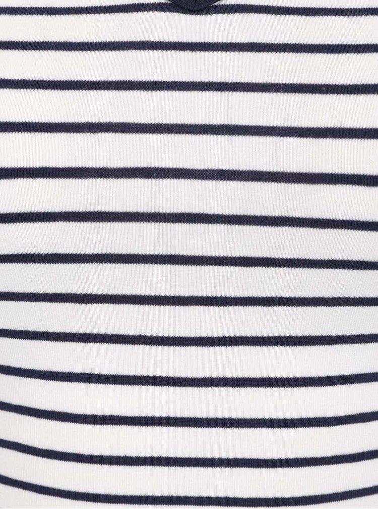Modro-krémové pruhované tílko s úzkými ramínky TALLY WEiJL
