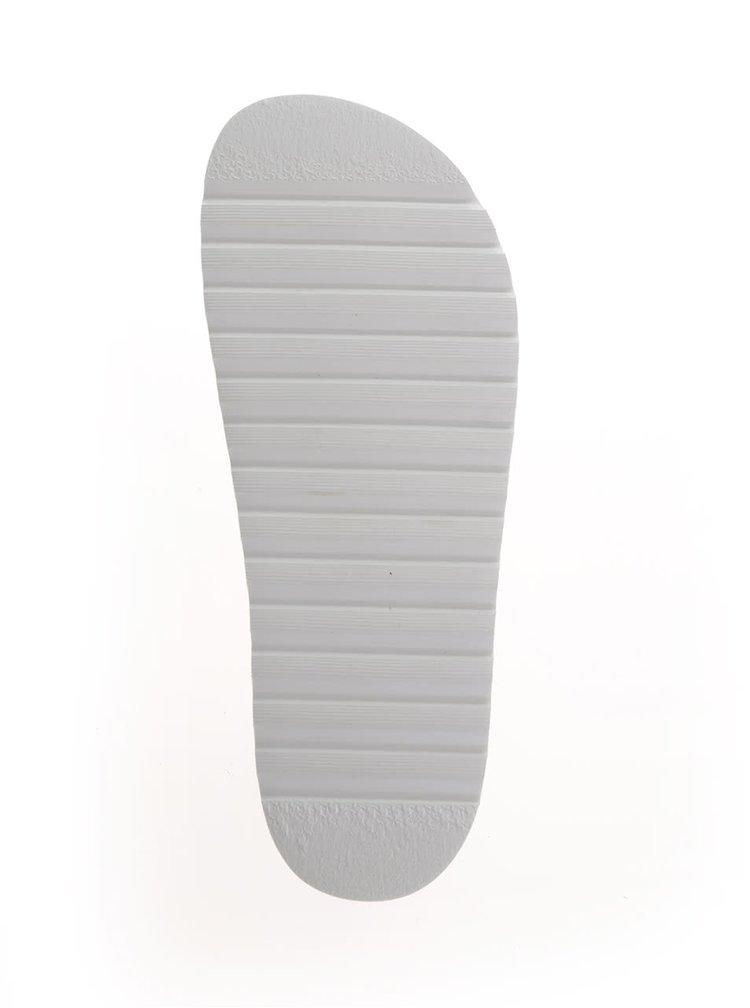 Starorůžové kožené pantofle na platformě VERO MODA Lise