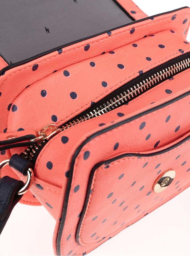 Geantă crossbody corai Paul's Boutique Francesca cu buline