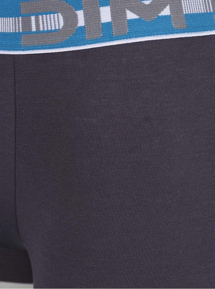 Sada dvou boxerek v tyrkysové a šedé barvě DIM