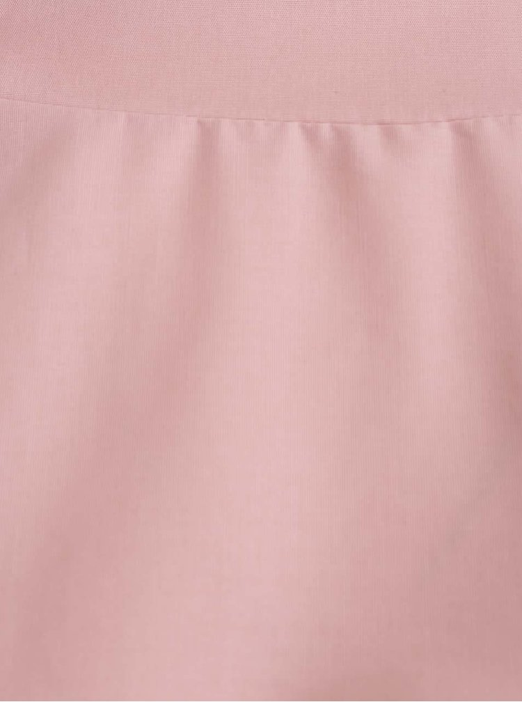 Bluza supradimensionata roz pal ZOOT cu tiv asimetric