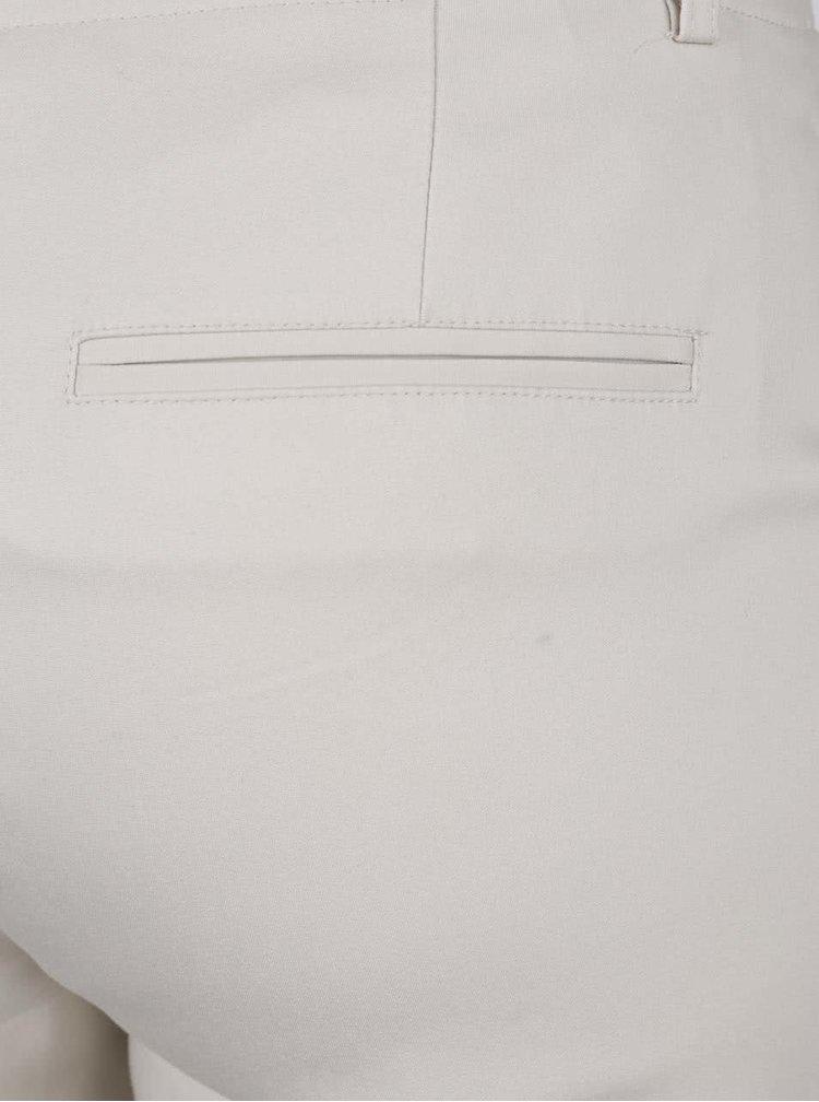 Krémové chino kalhoty s páskem VERO MODA Roos