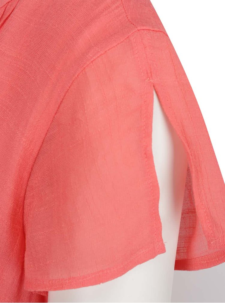 Růžové šaty se zavazováním v pase VERO MODA Mandy
