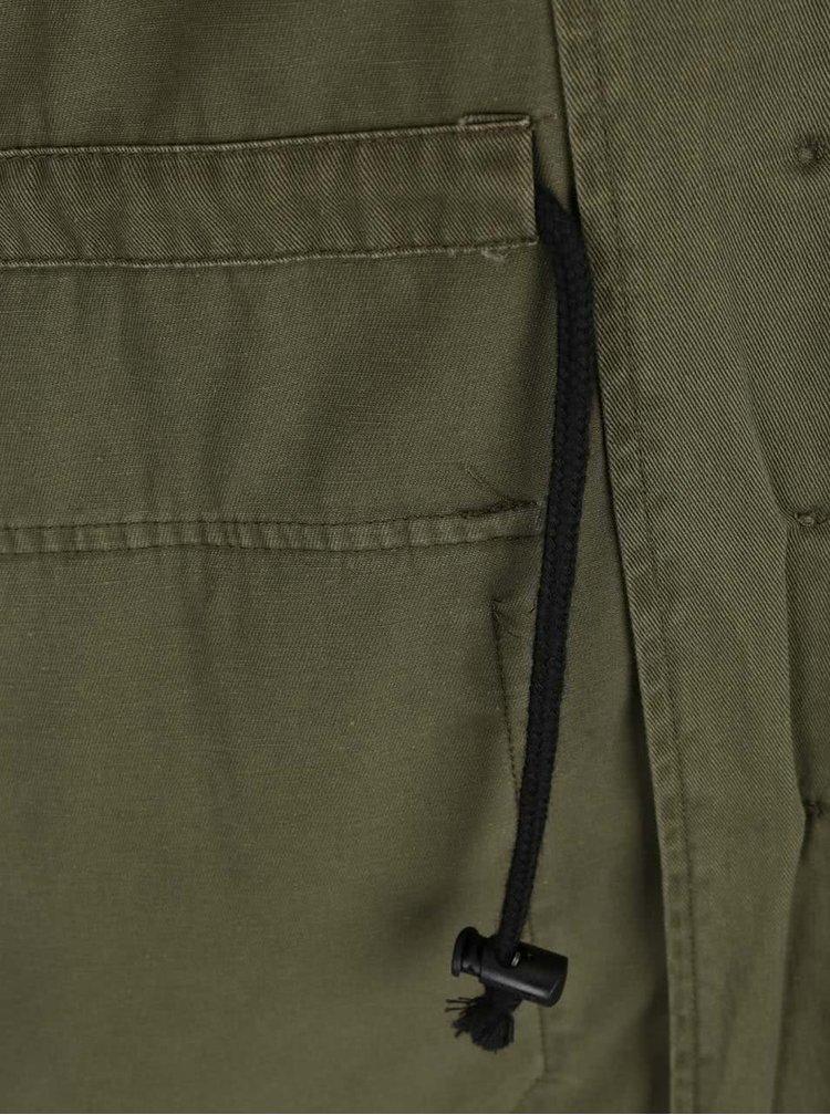 Jachetă kaki din denim VERO MODA Ruby cu aplicații