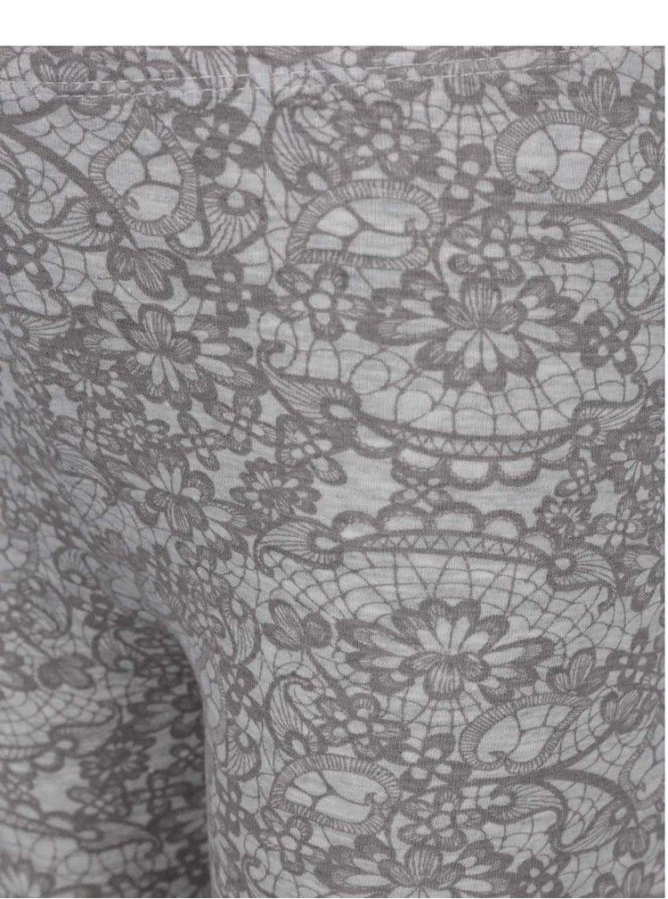 Šedé holčičí legíny s květovaným vzorem 5.10.15.