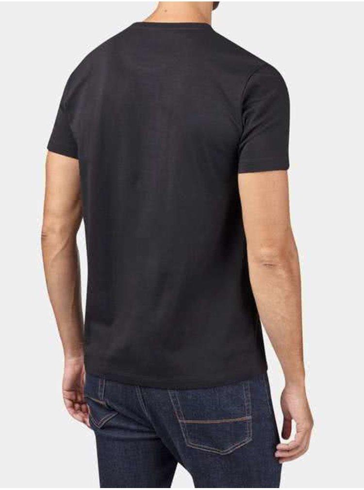 Černé triko s krátkým rukávem Burton Menswear London