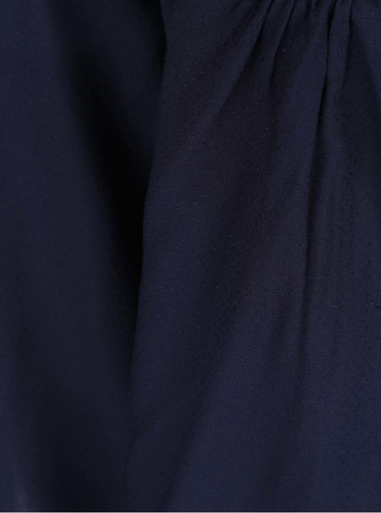 Tmavě modrá halenka s odhalenými rameny VERO MODA Deb