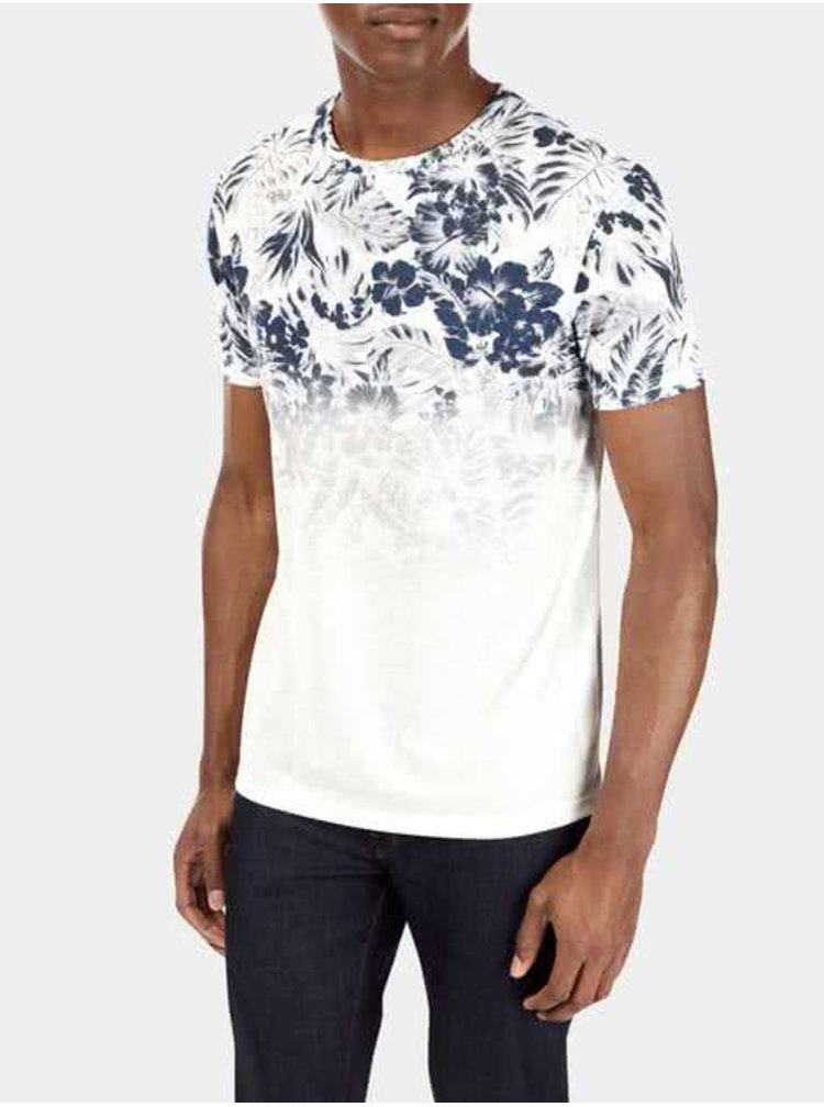 Krémové pánské triko s potiskem Burton Menswear London