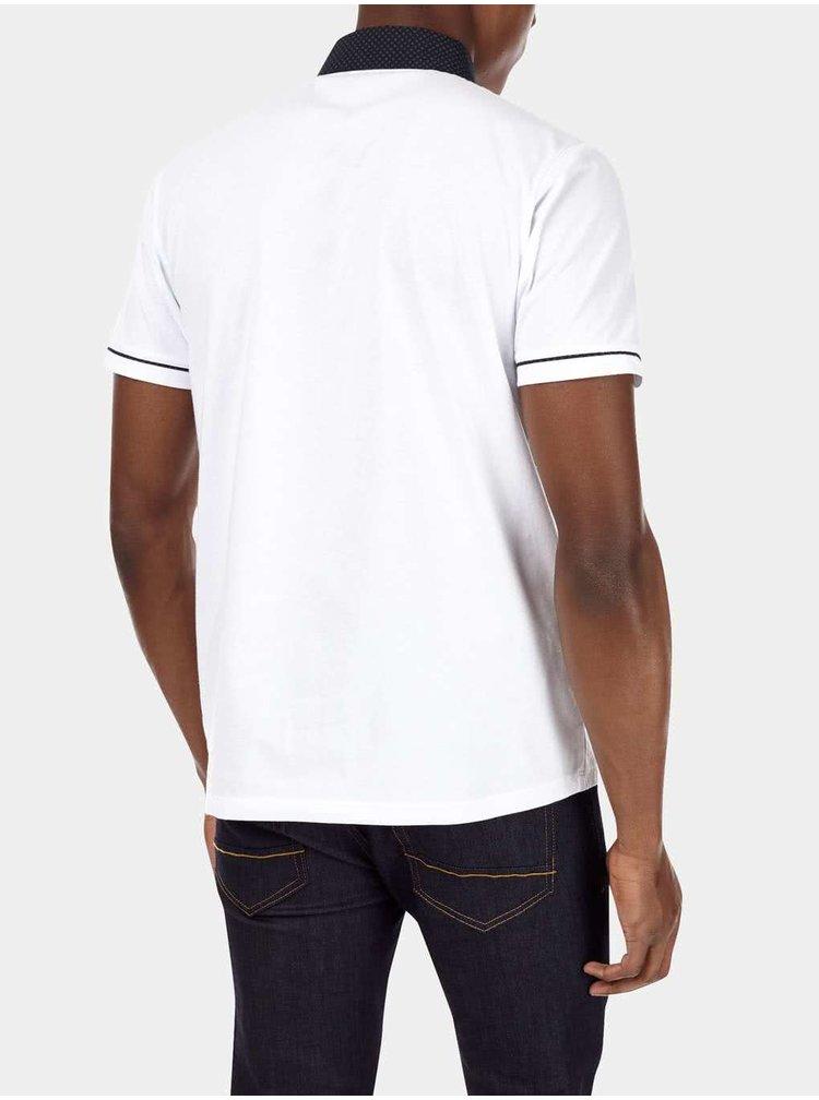 Bílé pánské polo triko Burton Menswear London