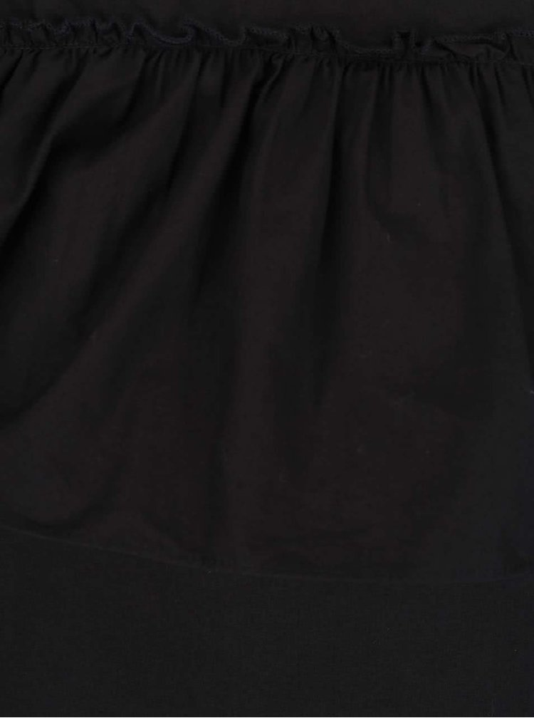 Černá asymetrická halenka s volánem Noisy May Mella