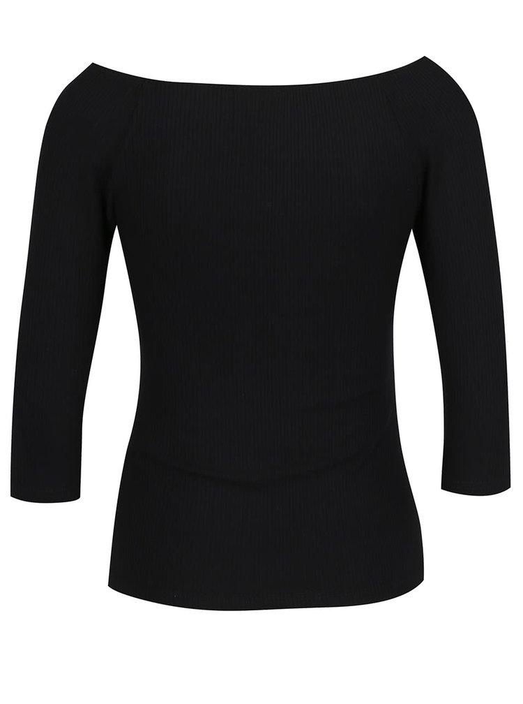 Bluza neagra VERO MODA New Yeng cu decolteu pe umeri