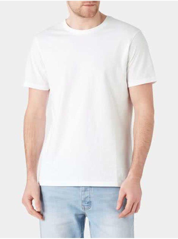 Bílé tričko s krátkým rukávem Burton Menswear London