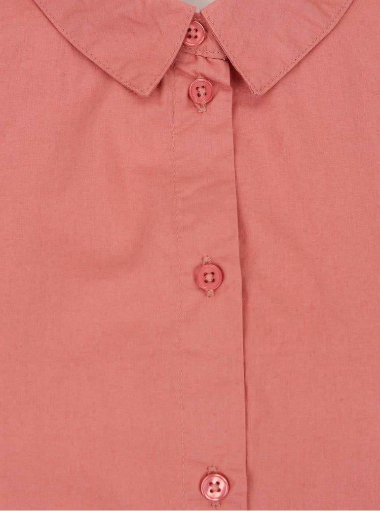 Camasa roz prafuit VERO MODA New Crome din bumbac