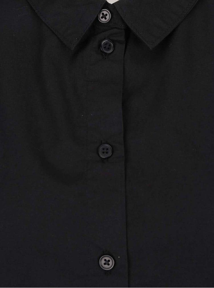 Černá košile s uzlíky na rukávech VERO MODA New Crome