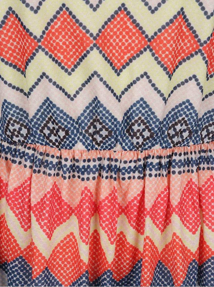 Rochie multicoloră VERO MODA Lis cu imprimeu zig-zag
