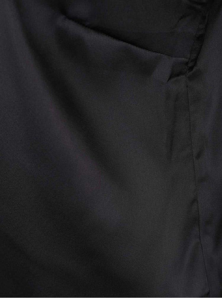 Černé lesklé tílko se zkříženými pásky v dekoltu Noisy May New Olli