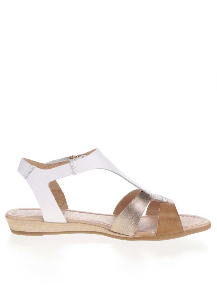Hnědo-bílé kožené sandály Pikolinos Alcudia