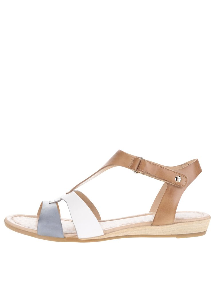 Modro-hnědé kožené sandály Pikolinos Alcudia