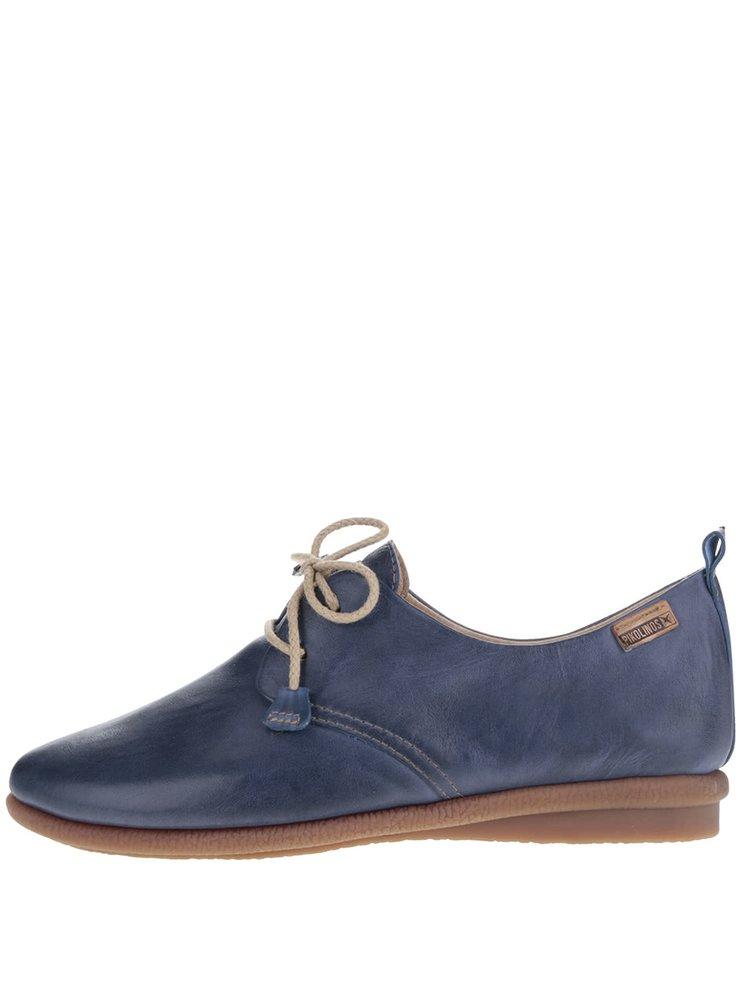 Pantofi albaștri Pikolinos Calabria din piele