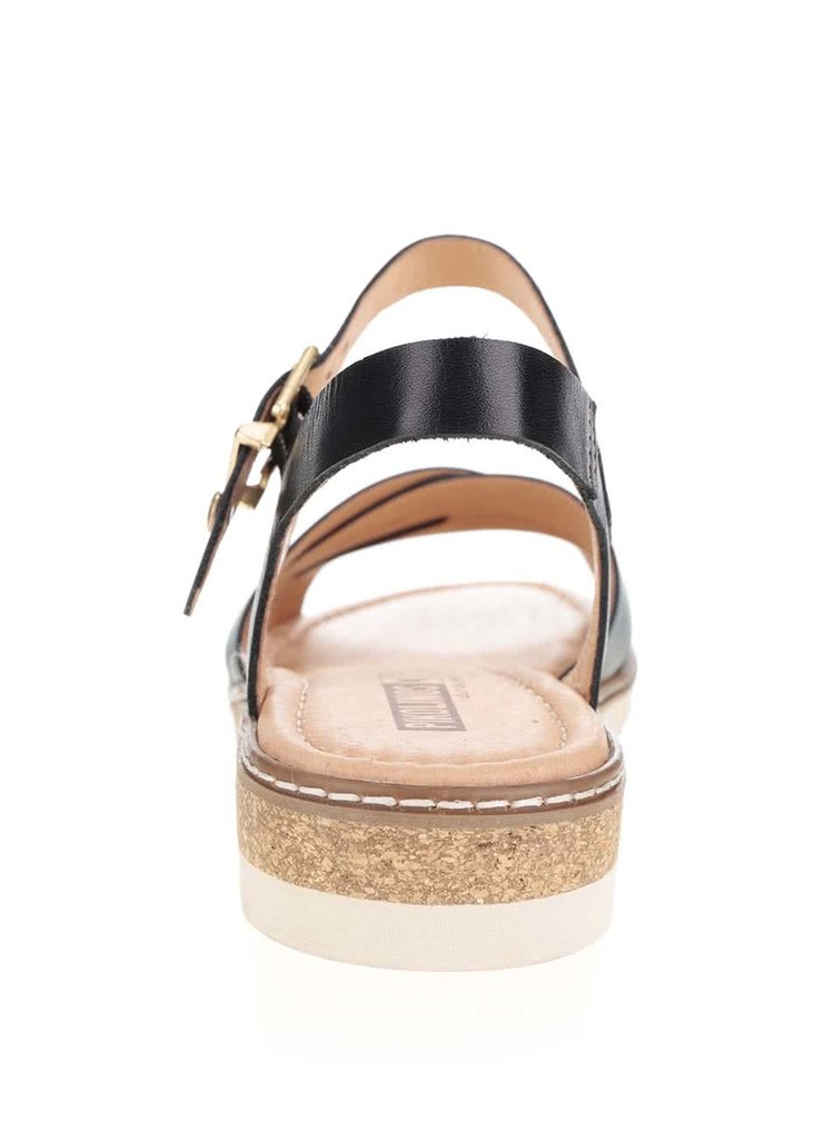 Béžovo-černé kožené sandály Pikolinos Alcudia