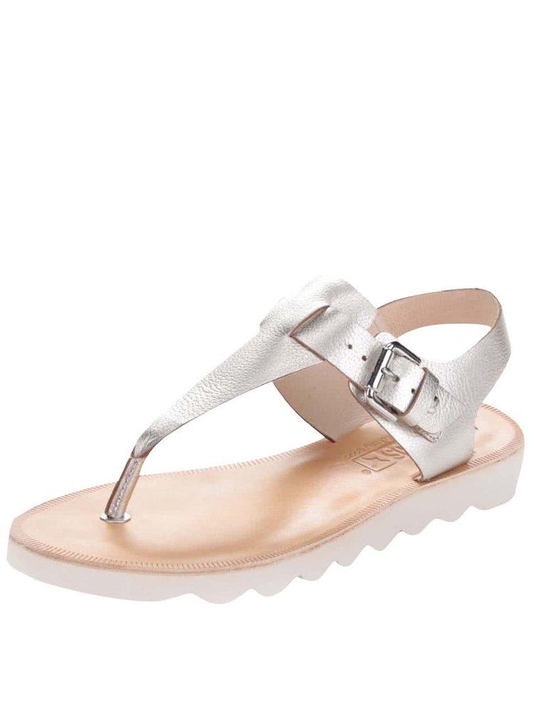 Kožené sandály ve stříbrné barvě Pikolinos Albufera