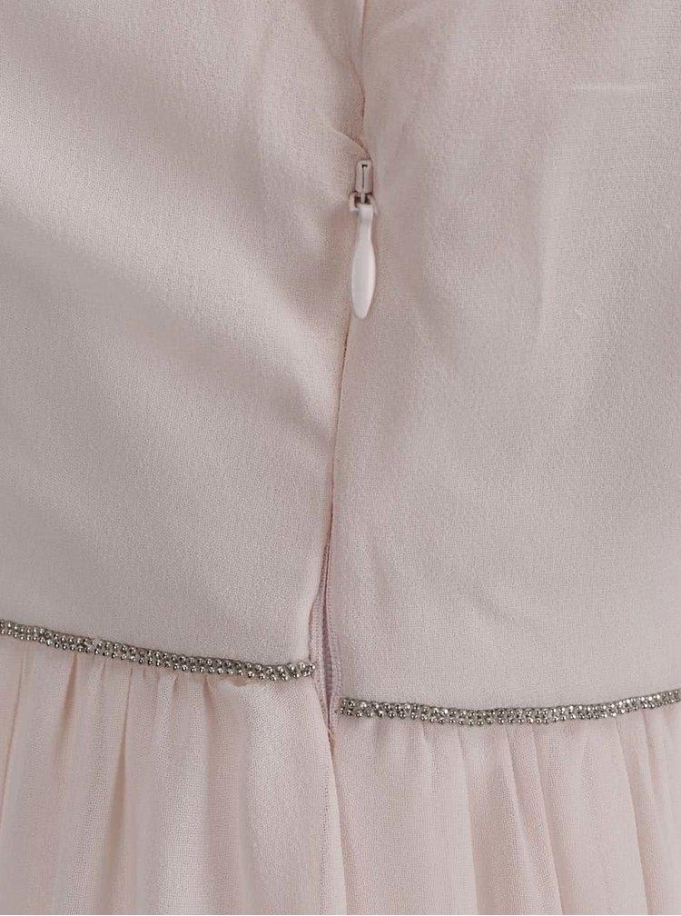 Rochie maxi roz pal VILA Mirandi cu bretele subțiri
