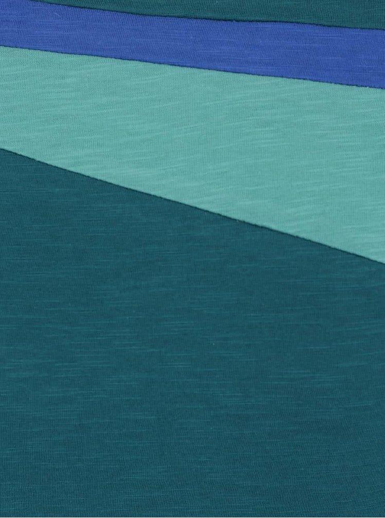 Top verde & albastru Tranquillo Romy din bumbac organic cu model